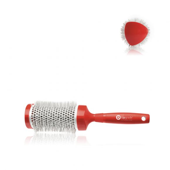 Triangular concave thermal brush Red Angle 43 MM